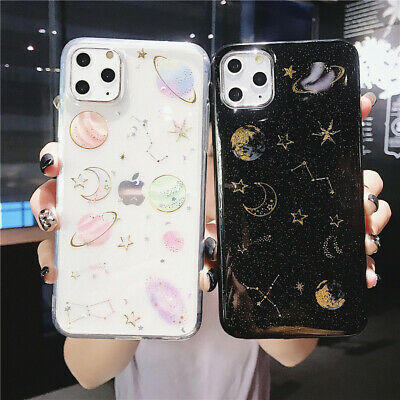 AU9.99 • Buy Glitter Space Planet Soft Silicon Phone Case IPhone 12 Mini 12 Pro Max 11 X XR