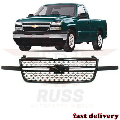 $168.65 • Buy New Front Upper Black Grille Assembly Fits 2003-2007 Chevrolet Silverado 1500 SS