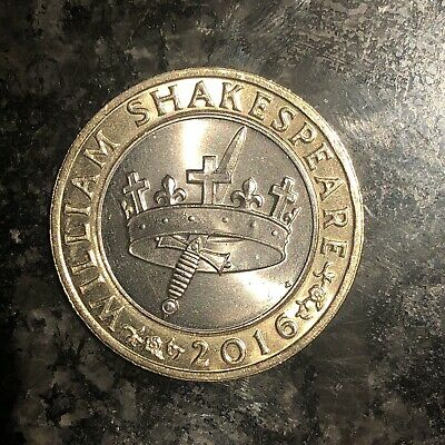 *RARE* William Shakespeare 2016 Two Pound Coin Mint Condition • 20£