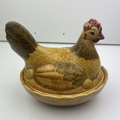 Vintage Retro 60's/70s Chicken Hen Egg Holder Storage Sadler Made In England  • 29.99£
