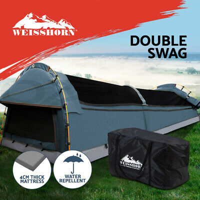 AU207.95 • Buy Weisshorn Swags Double Camping Swag Water Reistant Ripstop Canvas 2 Person