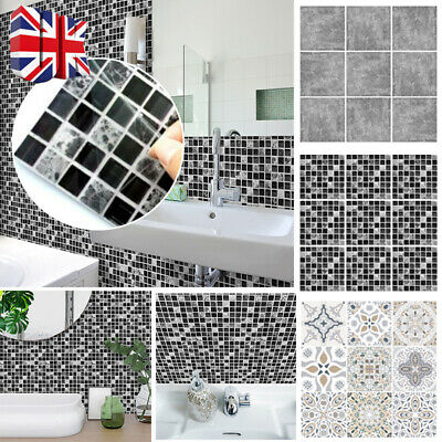 20pcs 15x15cm Mosaic Sticker Kitchen Tile Stickers Bathroom Self-adhesive Wall W • 3.99£