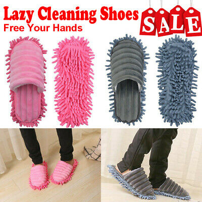 Lazy Cleaning Shoes Mop Slippers Floor Foot Socks Polishing Dust Remover S-L UK • 8.56£