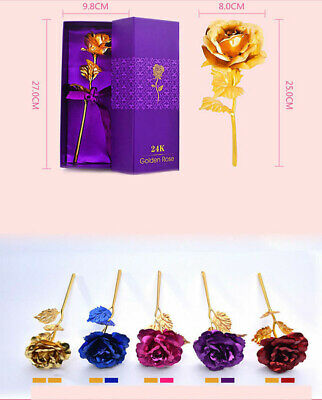 AU17.69 • Buy 2020 New 24K Gold Plated Rose Flower Valentine's Day Birthday Romantic Gifts+box