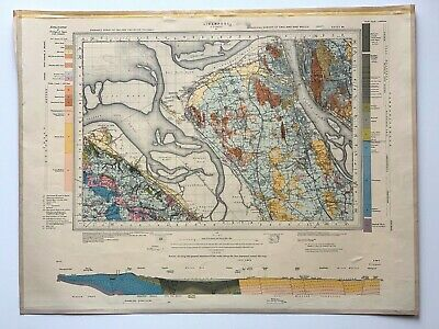 £15.85 • Buy Ordnance Survey Geological Drift Map, Liverpool, Formby Area, Sheet 96, 1956