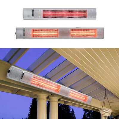 £65.95 • Buy 1-3kW Electric Patio Heater Infrared Outdoor Garden Wall Mounted Remote 3 Levels
