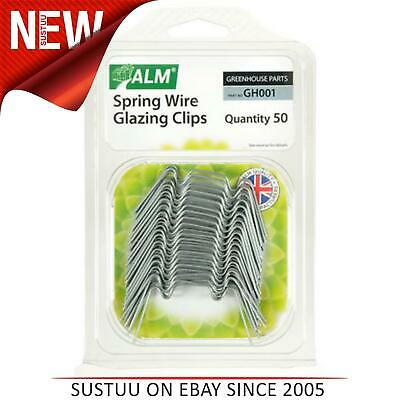 ALM GH001 Green House Spring Wire Window W Glazing Clips│Pack 50 • 8.07£