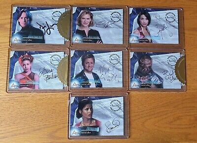 Andromeda Premiere Complete Autograph Card Set Of 7 • 99£