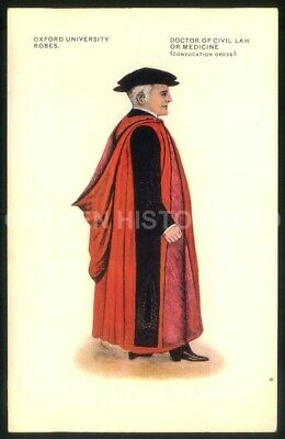 £4.99 • Buy Oxford University Robes Doctor Of Civil Law Or Medicine Picture Postcard
