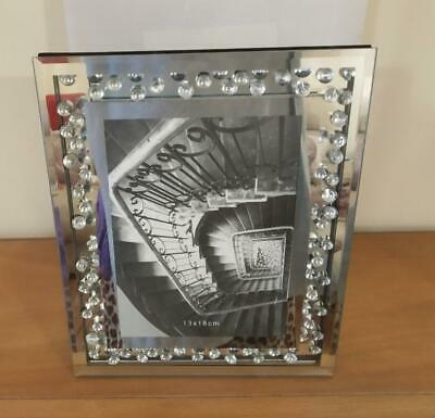 Beautiful Floating Crystal And Mirror Large Photo Frame • 20£