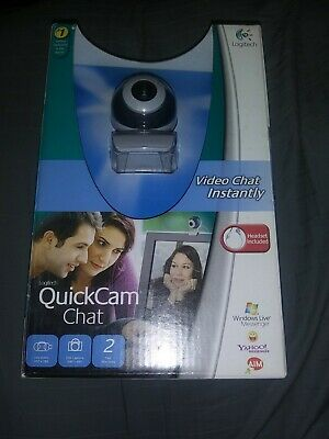 Logitech Quickcam Video Chat Web Cam Skype Headset Included - NEW • 10.08£