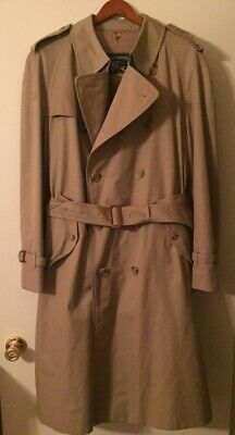 $249.50 • Buy Vintage Mens Burberry Wool Lined Belted Trench Coat 46 46R ~ EXCELLENT CONDITION