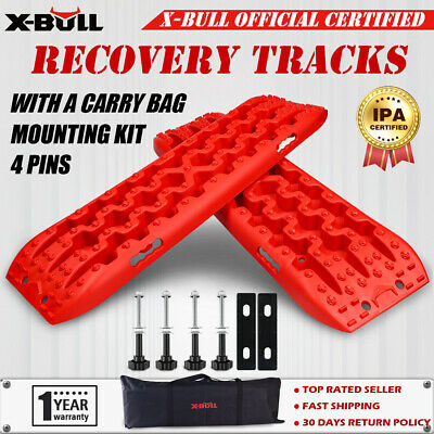 AU98.90 • Buy X-BULL Recovery Tracks 10T Sand Tracks Snow Mud With Mounting Pins 4x4 4WD Red