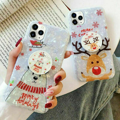 AU9.99 • Buy Cute Marble Christmas Phone Case Cover IPhone 12 Pro Max 12 Mini 11 XS 8 7s/Plus