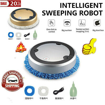 UV Intelligent Sweeping Robot Vacuum Cleaner Rechargeable Dry And Wet • 29.96£