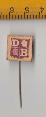 Vintage DAVID BROWN Pin Badge 1960s Tractor Farming Logo • 1.95£