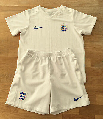 England National Football Team Home Kit 2014-2016 Kid's Size 7-8 Years, White • 18.50£