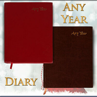 A4 2020 2021 Diary Day To Page ANY YEAR Diary Hard Backed A4 Diary Best Gift UK⛳ • 8.95£