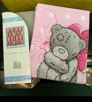 Me To You Tatty Teddy Pink 66x54  Pencil Pleat Curtains Set Girls Bedroom • 11.99£