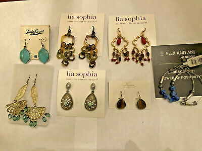 $ CDN62.77 • Buy Lot Of 7 Pairs Earrings  Lia Sophia And Kiam, Alex And Ani, Lucky Brand ALL NEW