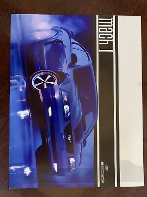"""$15 • Buy Mustang 2003 Mach 1 Hero Card 11""""X 8.5"""" Two Sided"""