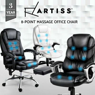 AU184.95 • Buy Artiss Massage Office Chair Gaming Chair Heated 8 Point Vibration Recliner
