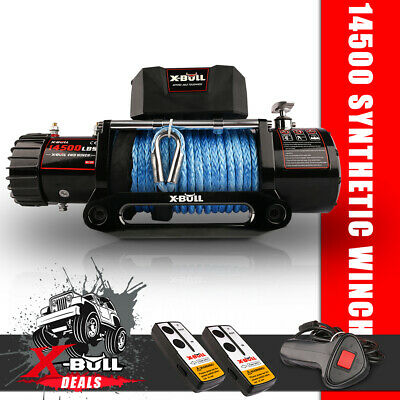 AU489 • Buy X-BULL Electric Winch 14500LBS 12V 26m Synthetic Rope Wireless Offroad 4x4 Truck