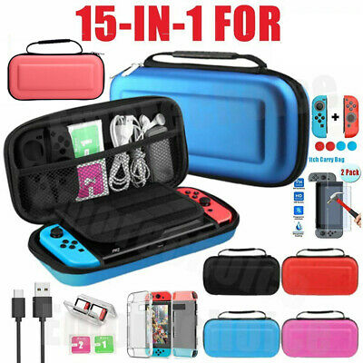 AU23.99 • Buy For Nintendo Switch Case Storage Travel Bag+Screen Protectors+Cover Accessories