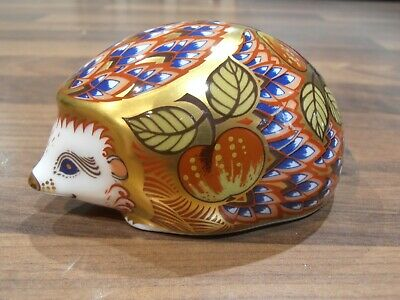 £49.95 • Buy Royal Crown Derby Paperweight Orchard Hedgehog Exclusive Edition Gold Stopper