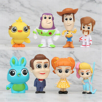 Toy Story Buzz Lightyear Woody Bunny 8PCS Action Figure Kid Xmas Toy Cake Topper • 7.39£