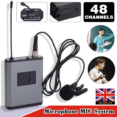 UHF Wireless Lavalier Lapel Microphone MIC System & Headset Transmitter Receiver • 21.99£