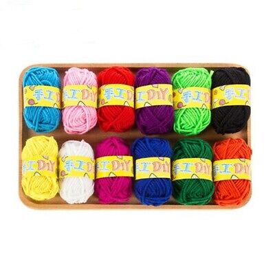12pcs Yarn Wool Lot Knitting Crochet Granny Squares Craft Toys Bundle DIY • 7.81£