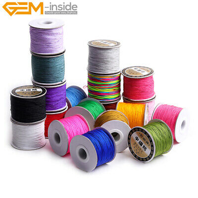 $3.22 • Buy 0.8mm 120 Meters Nylon Beading Cord Braided Knotting Cord Jewelry Making 1 Piece