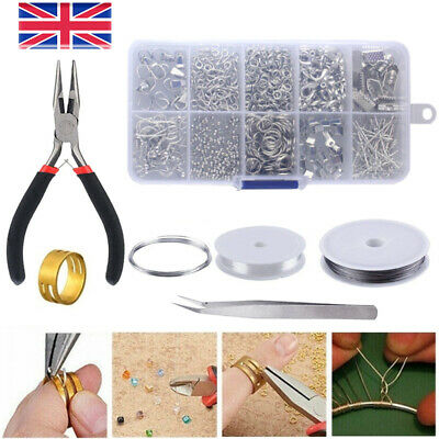 Jewellery Making Kit Wire Pliers Set Starter Tools Necklace Repair Tool Findings • 6.88£
