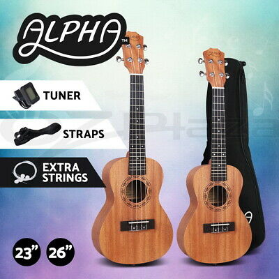 AU54.95 • Buy Alpha 23  26  Concert Tenor Ukulele Mahogany Ukuleles Uke W/ Tuner Carry Bag