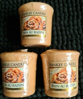 Yankee Candle PAIN AU RAISIN X 3 Votives Samplers Now RETIRED Discontinued VHTF  • 13.99£