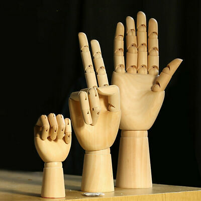 £20.99 • Buy Fashion Wooden Hand Mannequin Left Right Artist Drawing Movable Finger Joints