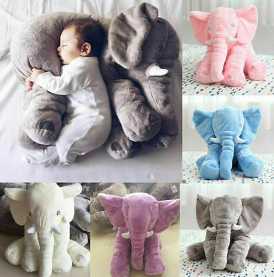 Baby Elephant Lumbar Pillow Long Nose Doll Pillow Soft Plush Doll Kid Toy • 9.99£
