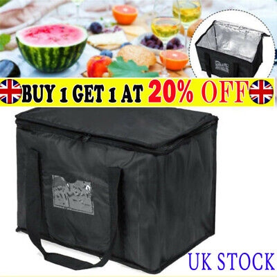 Food Delivery Insulated Bags Pizza Takeaway Thermal Warm/Cold Bag Ruck NY UK • 10.99£