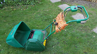 Qualcast Electric Cylinder Lawnmower Classic 30s W/ Box Self-propelled 25m Cable • 95£