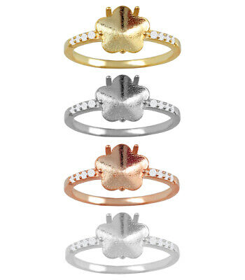 £8.11 • Buy Sterling Silver Ring Base For Setting 4744 10mm Crystal * Many Sizes & Platings