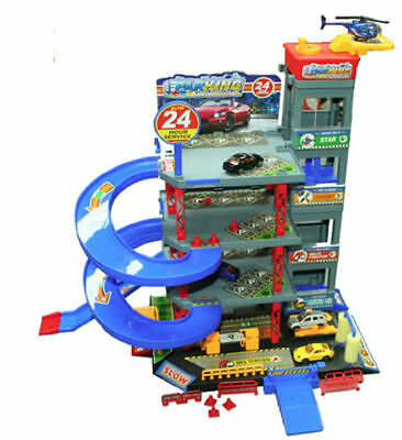 Childs Kids Toy City Garage Petrol Station Car Park Play Set With Lift New Boxed • 24.95£