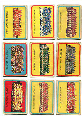 AU30.85 • Buy 1963 Topps CFL Lot Of 9 Team Picture Cards Tiger-Cats, Roughriders, Argos More