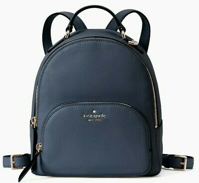 $ CDN158.81 • Buy Kate Spade Jackson Navy Pebbled Leather Medium Backpack WKRU5946 NWT $359 Ret FS