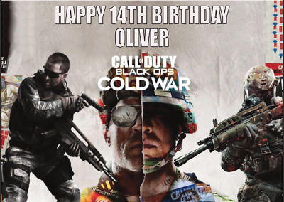 £3 • Buy Personalised A5 Call Of Duty Black Ops Cold War Inspired Birthday Card Free P&p