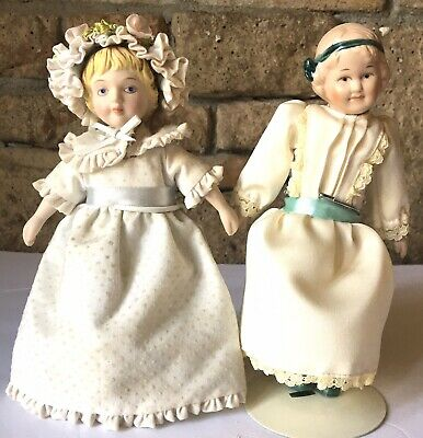 $ CDN21.78 • Buy Vintage 7 Inch Porcelain Doll Lot Of 2 1983 With Stand