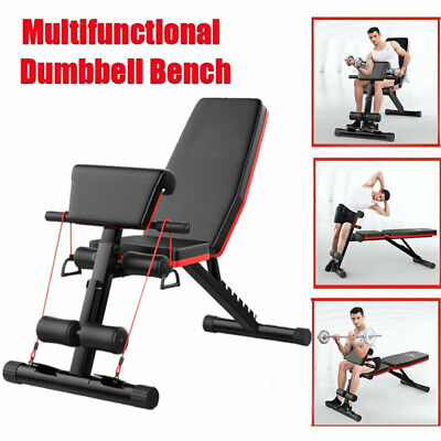 Weight Bench Multi Adjustable Gym Workout Exercise Flat Incline Decline Sit Up • 82.99£