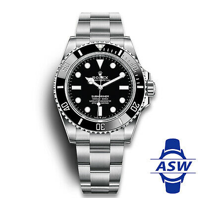 $ CDN16135.11 • Buy Rolex 2020 Rolex Submariner 41mm No-Date Black Ceramic Watch 124060 LN