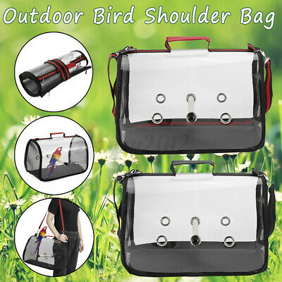 Parrot Bird Carrier Backpack Travel Outdoor Transport Cage Breathable Bag UK • 16.59£