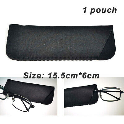 £1.29 • Buy Black Pouch / Soft Drawstring Case Bag For Spectacles Reading Glasses Protective